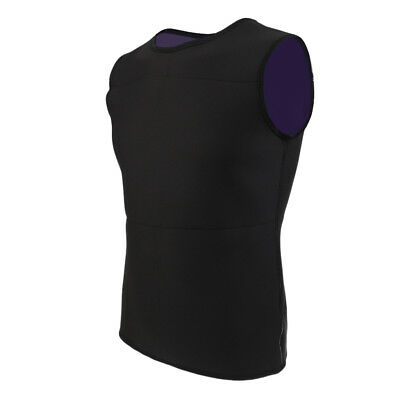Mens Stretch Neoprene Sleeveless Surf Swimming Rash Vest Guard Warm Top Wetsuit