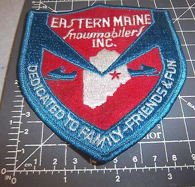 Eastern Maine Snowmobilers Inc, Embroidered Patch, great collectible