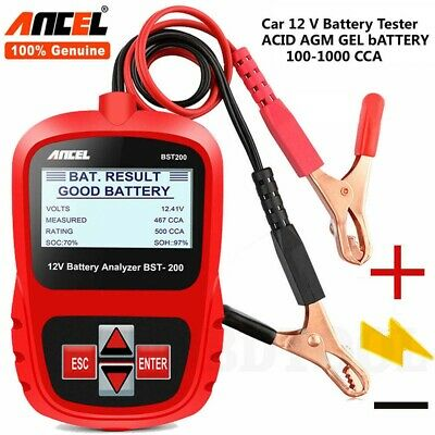 12V Car Battery Tester Auto Digital Vehicle Analyzer 1100CCA ANCEL BST200-AU