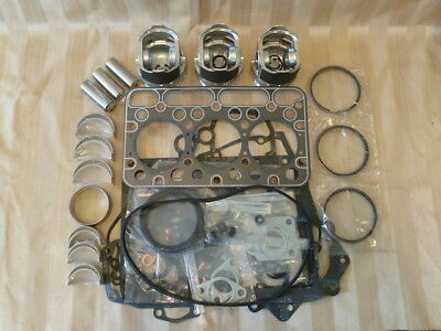 Kubota D1703 Engine Overhaul Kit / Pistons, Rings, Bearings, Gasket Set
