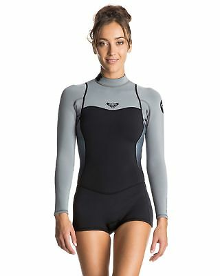 NEW ROXY™  Womens Syncro 2/2 Long Sleeve Back Zip Springsuit Wetsuit 2016 Womens
