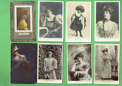 #D314. #3.  Eight Lady Postcards