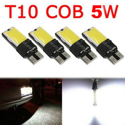 4PCS T10 W5W 194 168 5W LED COB No Error Canbus Side Wedge Lamp Light Bulb White