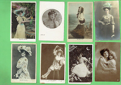 #D314. #4.  Eight Lady Postcards