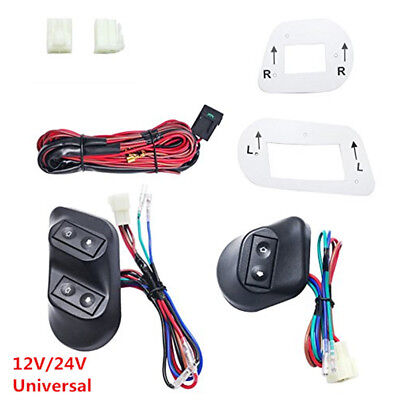 Universal 12V/24V Buttons Car Power Window Switches with Holder & Wire Harness
