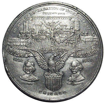 1893 World's Columbian Expo Medal - HK157 - Declaration of Independence Token