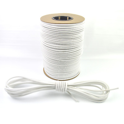 "1/4"" White Bungee Cord Marine Grade Heavy Duty Shock Rope Tie Down Stretch Band"