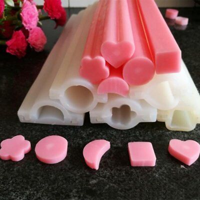 DIY Candle Soap Mould Templet Hand Craft Heart Round Silicone Tube Column Mold