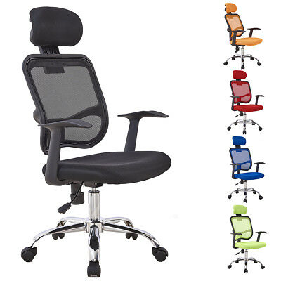 GIZZA Computer Desk Chair with Headrest High Back Mesh Office Home Furniture New