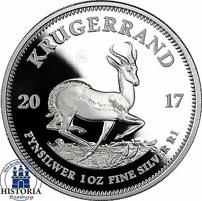 South Africa 2017 Krugerrand - 1oz proof Silver Coin in Box with COA