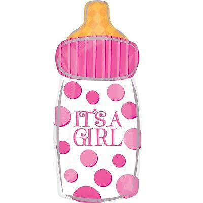 Its A Girl Pink Foil Baby Bottle Helium Balloon Baby Shower Decoration Gift