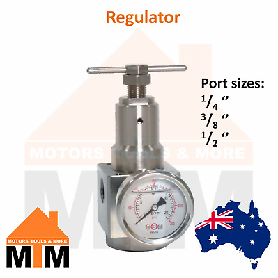 Stainless Steel Regulator for Pneumatic systems SS Air Compressor Airline R