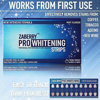 28 3D Professional Teeth Whitening Strips Whitestrips Safe 14 Pouches!