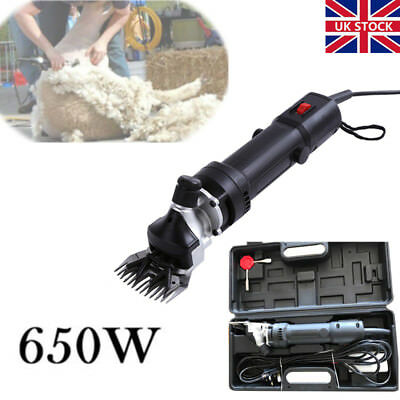 650W Electric Shearing Clippers Shears Sheep Goat Animal Trimmer Farm Machine UK