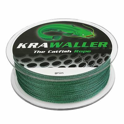 (0,06€/m) Wallerschnur 300M Krawaller The Catfish Role moosgrün 0,45mm/0,62mm We