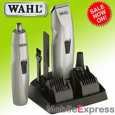 WAHL 10 Piece Mustache and Beard Trimmer With Bonus Nose Hair Trimmer