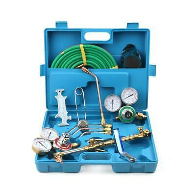 Gas Welding Cutting Welder Kit Oxy Acetylene Oxygen Torch w 15'Hose Plastic Case