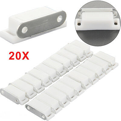 20 Heavy Duty 6KG Magnetic Cupboard Door Catch Strong White Door Cabinet Latch
