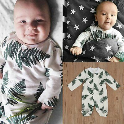 Toddler Infant Kids Baby Long Sleeve Romper Bodysuit Jumpsuit Playsuit Outfits