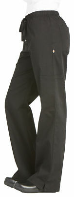 Dickies Chef Women's New Elastic Drawstring Low Rise Cargo Chef Pant. DC17