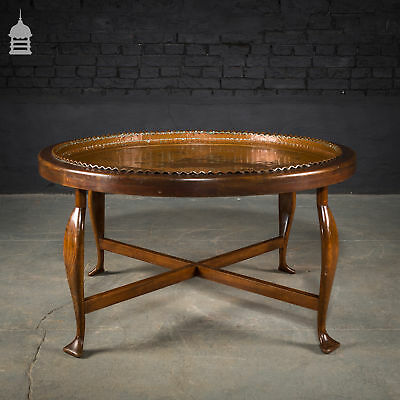 Large Round Coffee Table With Copper Centre 360 00 Picclick Uk