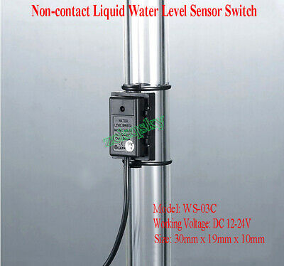 Non-contact Pipe Tube Liquid Water Level Detection Sensor Switch DC 12V-24V