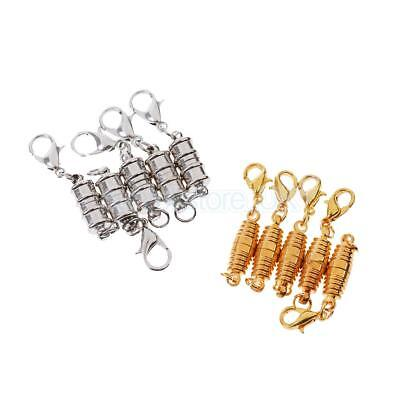 10Pcs Silver/Gold Lobster Magnetic Clasp Connector Jewelry Design DIY Craft