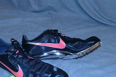 763fbf866d9b7 MENS NIKE ZOOM Ja Fly Spikes Running Shoes 15 Black Red Silver ...