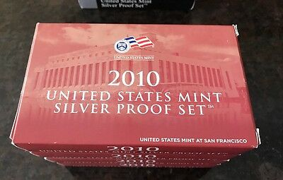 2010-S  Complete 14 Coin Silver Proof Set W OGP & COA