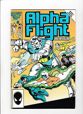 Alpha Flight Annual #1 (May 1986, Marvel) White Pages
