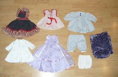"""8 Piece Lot Of 18""""  Doll Clothes, Fits American Girl, Battat Etc"""