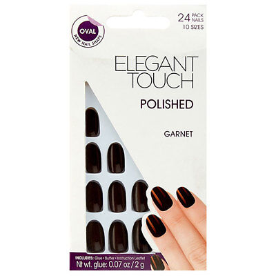 Elegant Touch Polish New Super - Flex Garnet 24 Pezzi