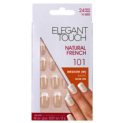 Elegant Touch Natural French Medium Bare Glue On 101