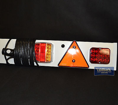"Maypole Quality TRAILER LIGHT BOARD 4Ft 6"" * LED LIGHTS + FOG* 7 PIN 6m Cable*"
