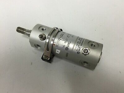 "SMC NCDGBA25-0050-G79S Pneumatic Cylinder, Bore: 1"", Stroke: 0.5"", 145psi"