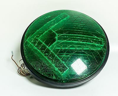 "Dialight Green Traffic Light Signal Arrow LED 12"" Lens Gasket ManCave Bar 8517"