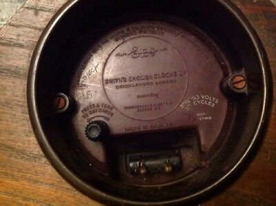Antique Smiths Electric SEC Clock With Power Lead For Restoration Untested