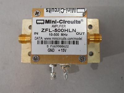 Mini-Circuits ZFL-500HLN Coaxial Low Noise Amplifier 10-500 MHz USED