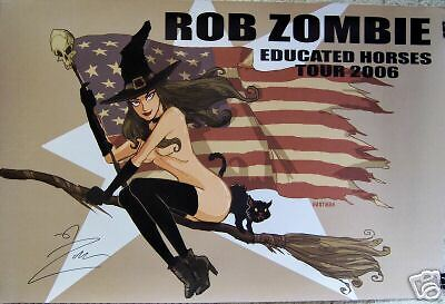 Rob Zombie - EDUCATED HORSES TOUR [2006] Promo Poster - Autographed - NM