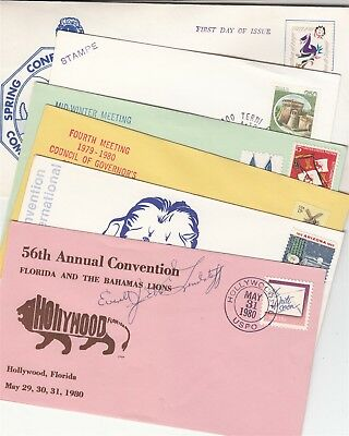 Lions Club 6 covers / postmarks