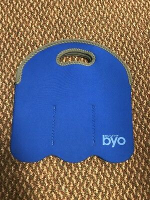 Built NY BYO Blue 6 Bottle Insulated Cool Carrier Neoprene 6 Pack Water Beer