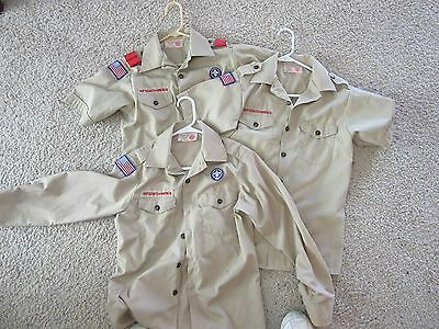 Boy Cub Scouts of America Tan Shirts ADULT MEN SMALL Your Choice of Style