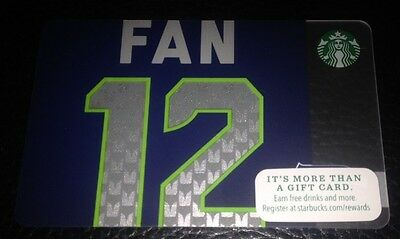 NEW! STARBUCKS 2014 SEATTLE SEA HAWKS FAN 12 Gift Card