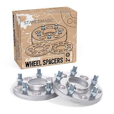 2pc 15mm Thick HUBCENTRIC Wheel Spacers | 5x114.3 | 64.1mm bore | 12x1.5 Studs