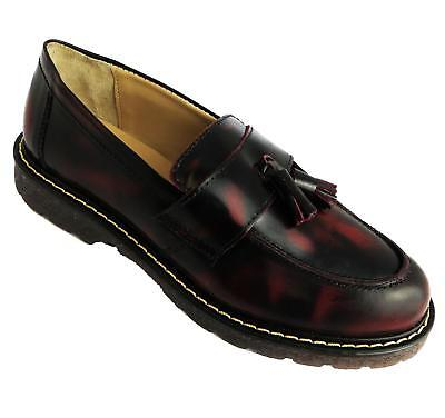 Cuthbert Burgandy Penny Grinders Loafers Oxblood Skinhead