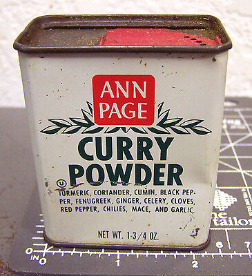 Vintage Ann Page Curry Powder 1 3/4 oz spice tin, great colors, nice collectible