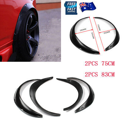 75cm 83cm Polyurethane Black Fender Drift Flares Wheel Arch Wide Body Set - 4PCS