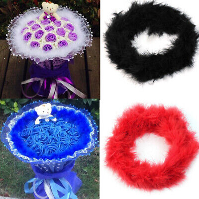 2m Fluffy Feather Boas Strip Fancy Dress Makeup Party Wedding Decor Xmas Gifts