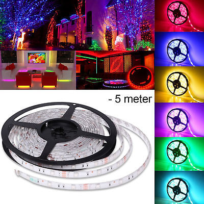 RGB LED Strip Lights IP65 Waterproof 5050 5M 300 LEDs 12V + 44 key IR Controller