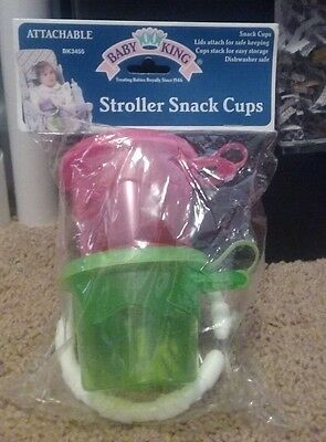 ( NIB ) Baby King attachable stroller snack cups.